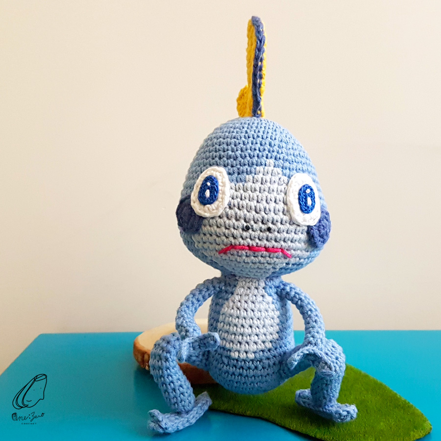 Sobble Crochet Pattern – One Zero Crochet | 900x900