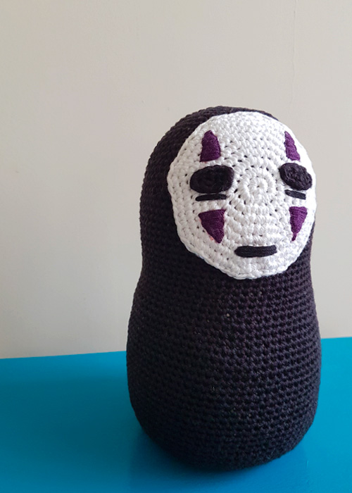 Studio Ghibli No Face Crochet Door Stopper Free Crochet Pattern