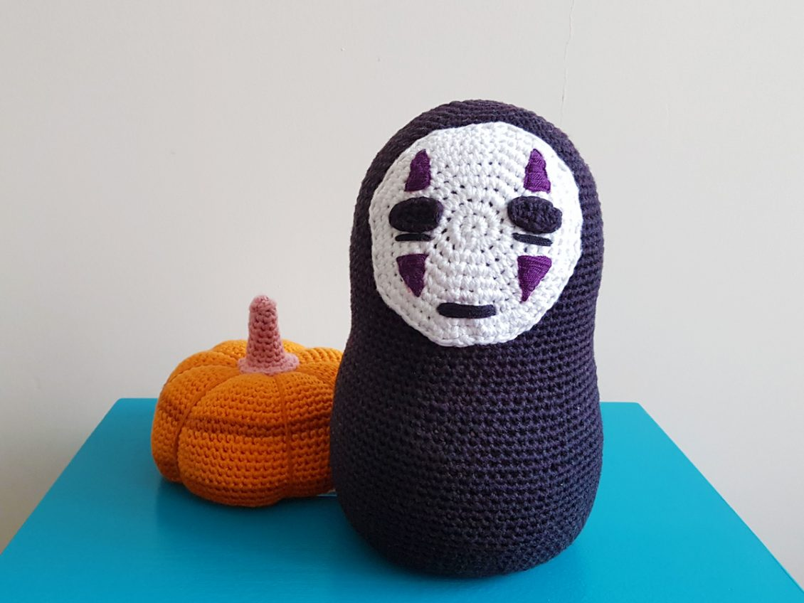 Studio Ghibli No Face Crochet Door Stopper Free Crochet Pattern