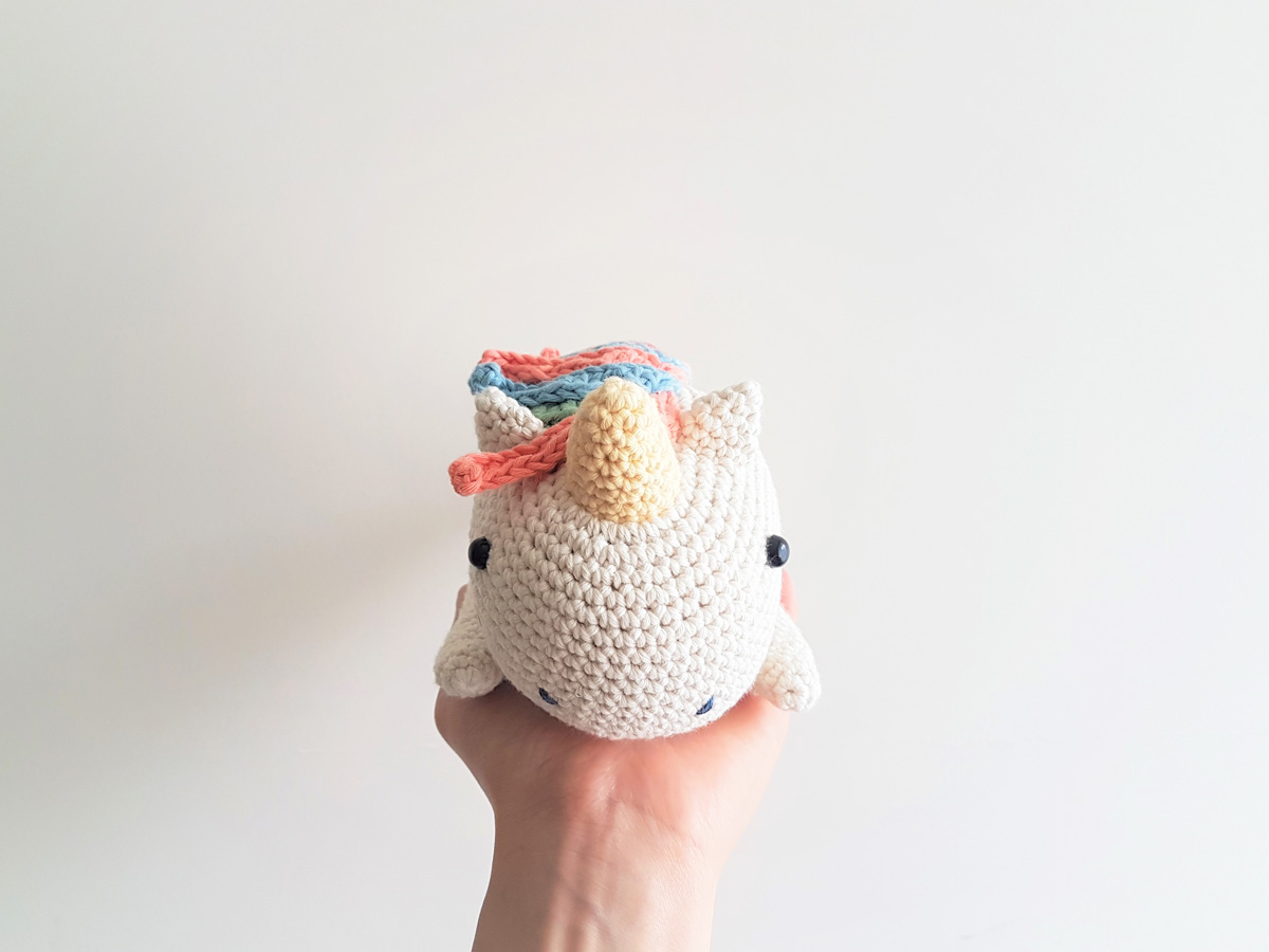 How to Crochet Unicorn Hat ( Video Two ) easy diy step-by-step ... | 900x1200